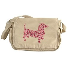 Doxie Hearts Messenger Bag