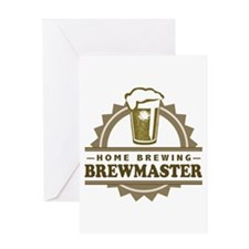 Brewmaster Home Beer Brewer Greeting Cards