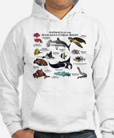 Animals of the Hawaiian Island Coral Reefs Hoodie