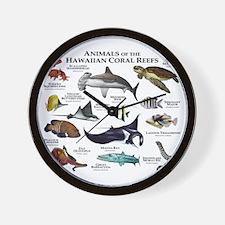 Animals of the Hawaiian Island Coral Reefs Wall Cl