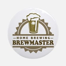 Brewmaster Home Beer Brewer Ornament (Round)