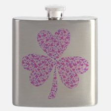 Shamrock Heart Design Flask