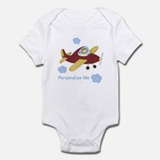 Personalized Airplane Infant Bodysuit