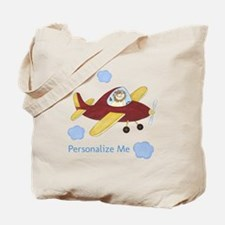 Personalized Airplane Tote Bag