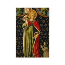 Benozzo Gozzoli - Saint Ursula wi Rectangle Magnet