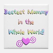 Bestest Mommy Tile Coaster