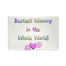 Bestest Mommy Rectangle Magnet