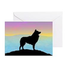 Seaside Schipperke Greeting Cards (Pk of 10)