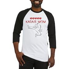 Proud Karate Mom Baseball Jersey
