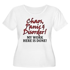 Chaos, Panic, Disorder Women's Plus Size T-Shirt