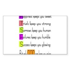 God keeps us going Rectangle Decal