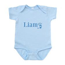 Blue Liam Name Body Suit