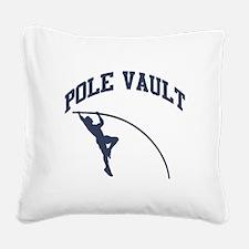 Pole Vault Square Canvas Pillow