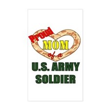 Proud Army Mom Rectangle Decal