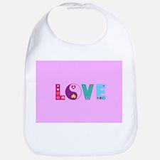 Cute LOVE with Hearts Bib