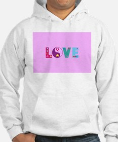 Cute LOVE with Hearts Jumper Hoody