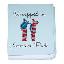 American Pride baby blanket
