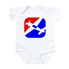 Aerobatic Aviation Red White  Infant Bodysuit