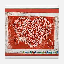 Art To Heart Star. Tile Coaster