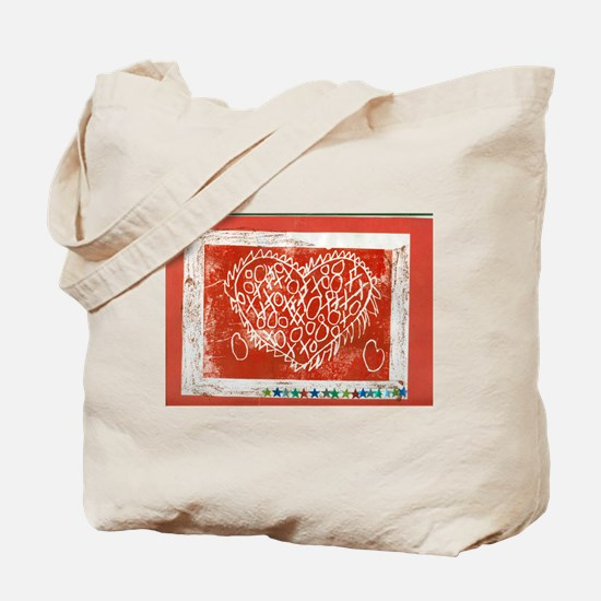 Art To Heart Star. Tote Bag