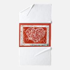 Art To Heart Star. Beach Towel