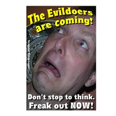 Eight Evildoers Are Coming! Postcards