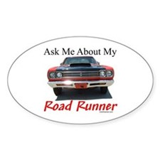 Road Runner Oval Decal