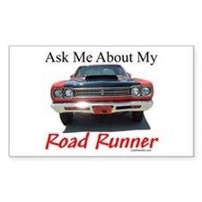 Road Runner Rectangle Decal
