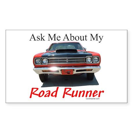 Road Runner Rectangle Sticker