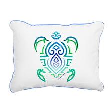 Tribal Turtle Rectangular Canvas Pillow