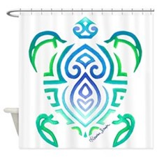 Tribal Turtle Shower Curtain