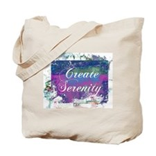 Create Serenity Abstract Blue Art Tote Bag