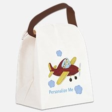 Airplane - Giraffe Canvas Lunch Bag