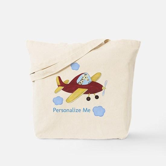 Airplane - Giraffe Tote Bag