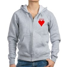 Red Heart Angel Zip Hoodie