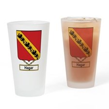 Hagar Family Crest Drinking Glass