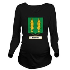 Hamm Family Crest Long Sleeve Maternity T-Shirt