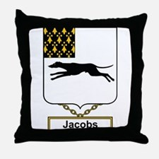Jacobs Family Crest Throw Pillow