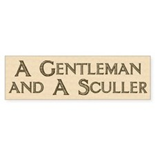 Gent. & Sculler Bumper Car Sticker