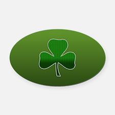 Irish Shamrock Oval Car Magnet