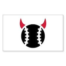 Baseball devil Bumper Stickers