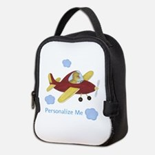 Personalized Airplane - Dinosaur Neoprene Lunch Ba