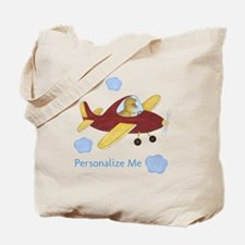 Personalized Airplane - Dinosaur Tote Bag