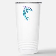 Tribal Dolphin Stainless Steel Travel Mug