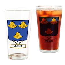 Mallett Family Crest Drinking Glass