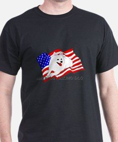 American Eskimo Dog USA T-Shirt