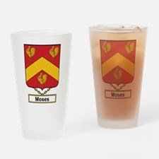 Moses Family Crest Drinking Glass