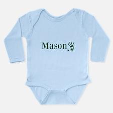Green Mason Name Body Suit