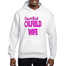 Spoiled Oilfield Wife Pink Hoodie