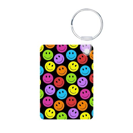 Happy Colorful Smiley Faces Pattern Aluminum Photo